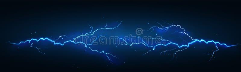 Lightning electric discharge. Vector illustration royalty free illustration
