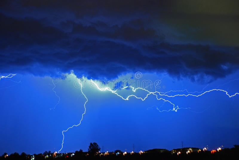 Lightning every where! royalty free stock photography