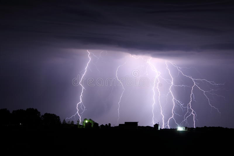 Download Lightning on the farm stock image. Image of farm, severe - 26263233
