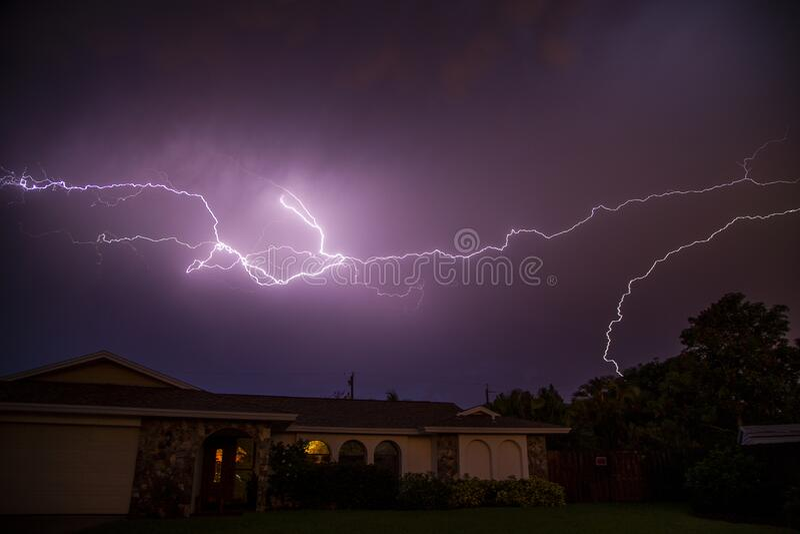 Lightning flash royalty free stock images