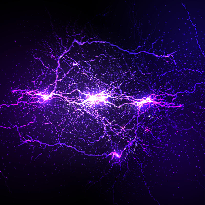 Lightning flash strike background stock illustration