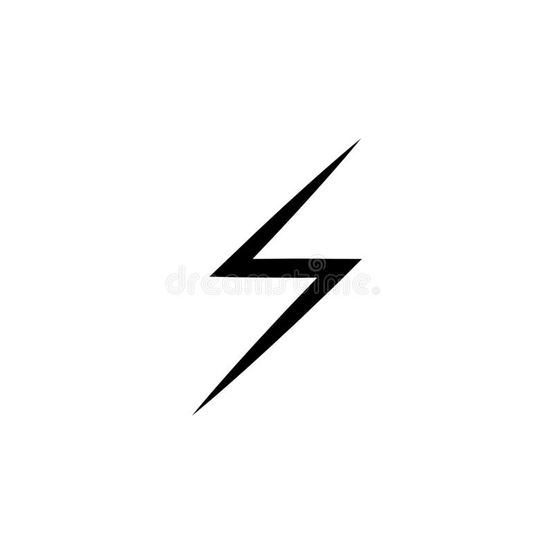 lightning icon. Simple glyph vector of weather set for UI and UX, website or mobile application stock illustration