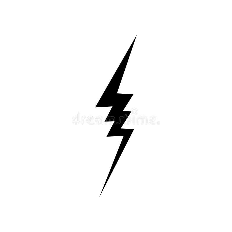 Lightning Icon vector. Simple flat symbol. Perfect Black pictogram illustration on white background.  royalty free illustration