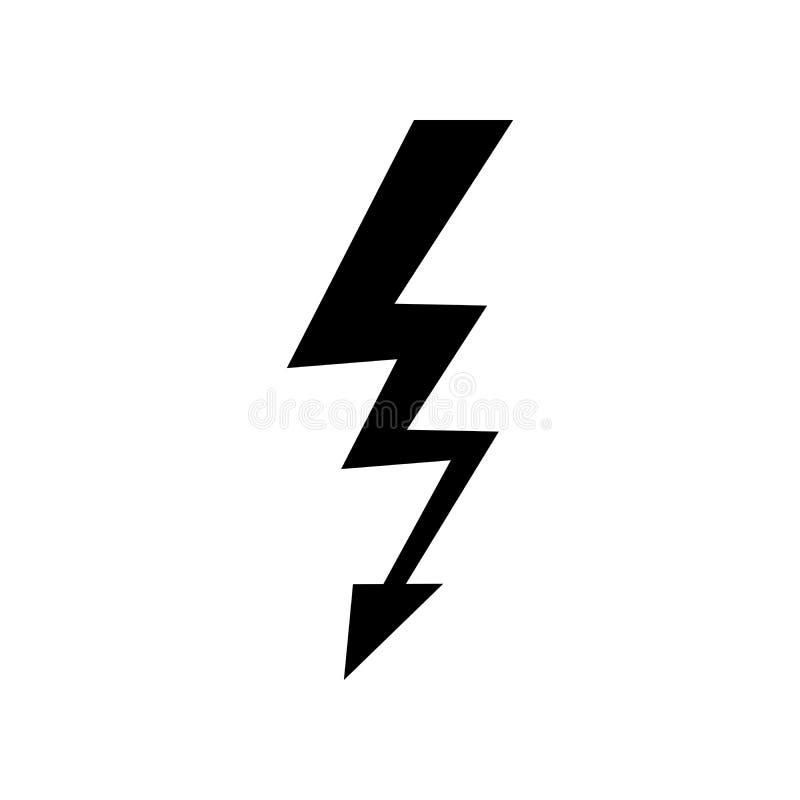 Lightning Icon vector. Simple flat symbol. Perfect Black pictogram illustration on white background.  vector illustration