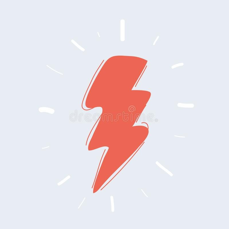 Lightning icon on white royalty free stock photo
