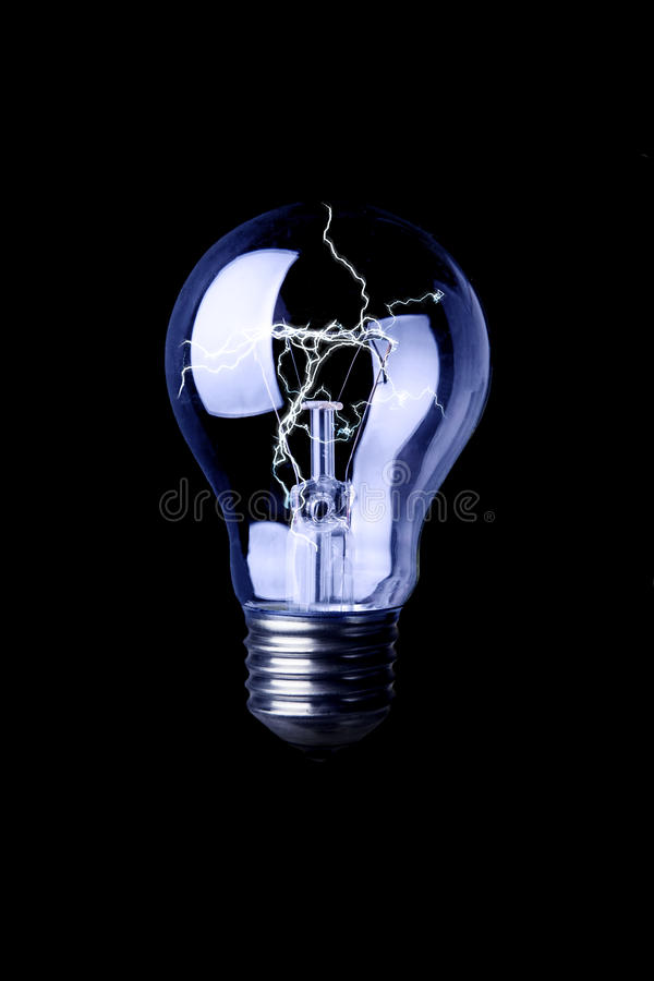 Free Lightning In A Bulb Royalty Free Stock Photos - 10024738