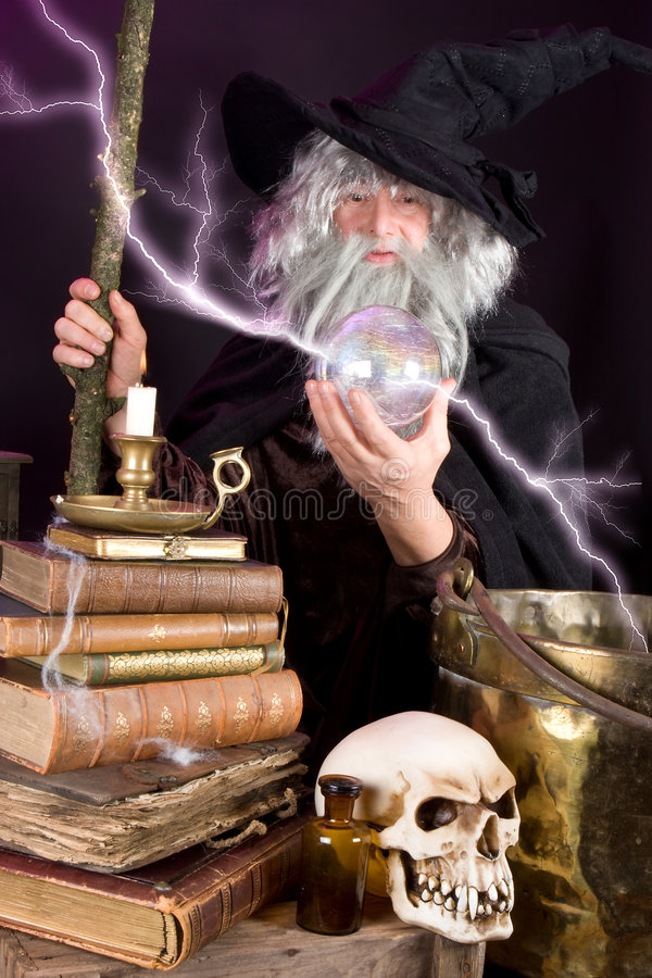 Lightning magic royalty free stock photos