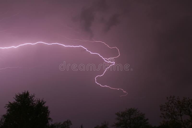Lightning in Missouri royalty free stock images
