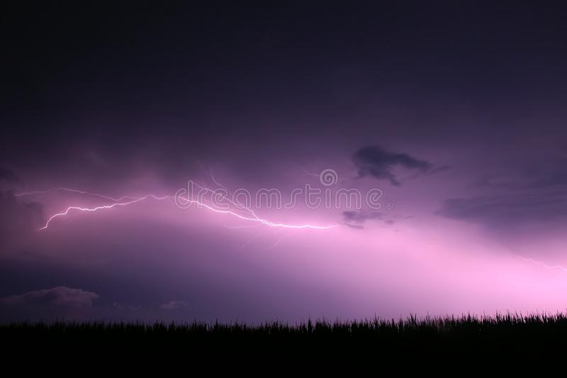 Lightning - Northern Illinois Royalty Free Stock Images