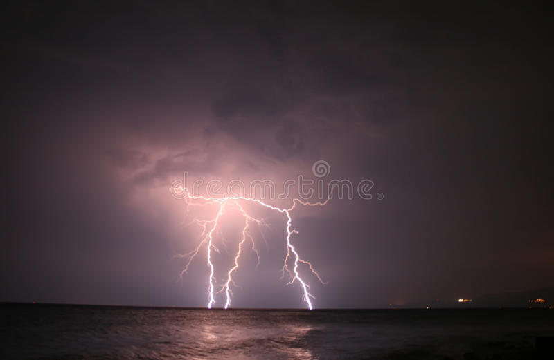 Download Lightning At Open Sea stock image. Image of high, close - 20889739