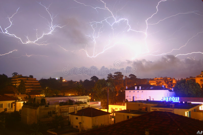 Lightning over the cap royalty free stock images