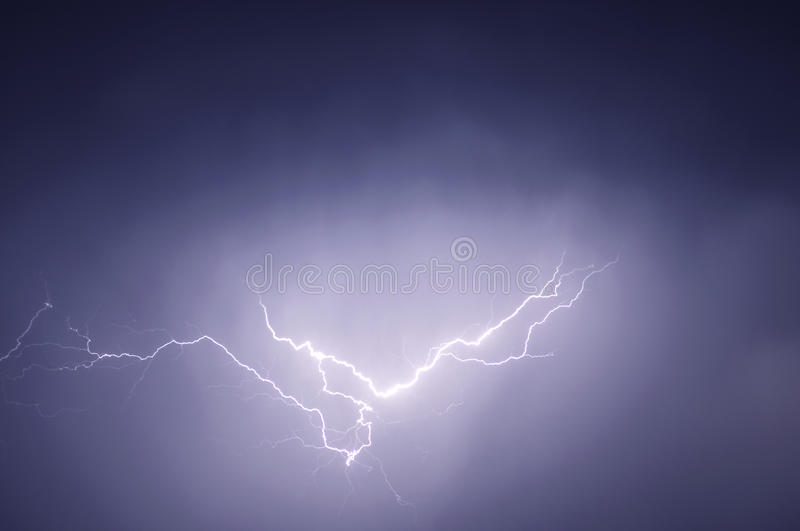 Lightning Over The Sea Stock Image