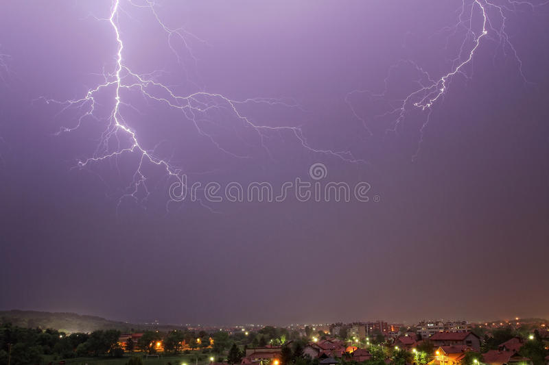 Download Lightning In The Rain Sky Stock Photos - Image: 24978633