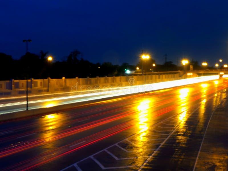 Lightning Roadway Stock Photo