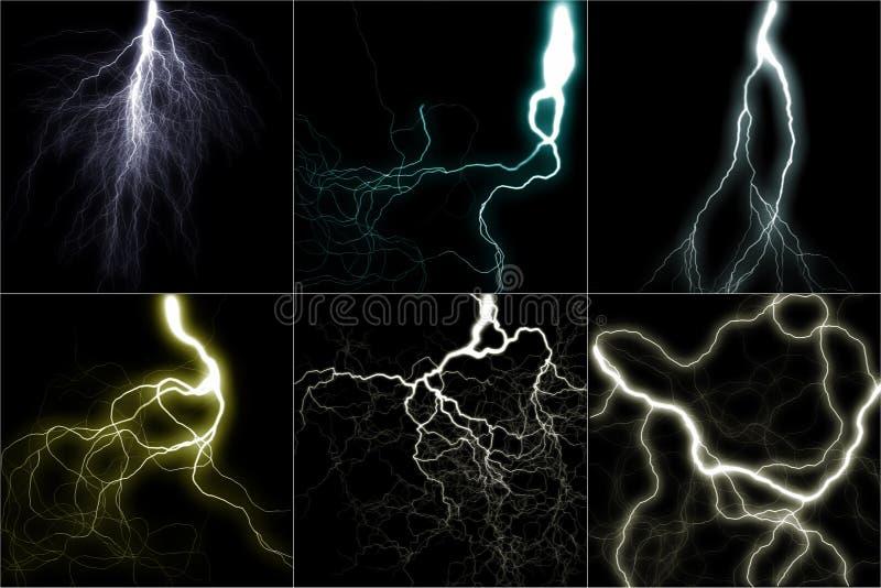 Lightning set vector illustration
