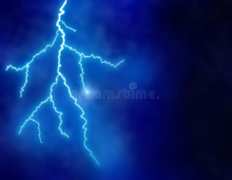 Lightning background at night stock illustration
