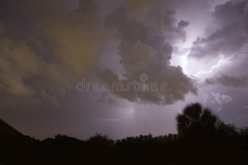 Lightning stirke royalty free stock photo
