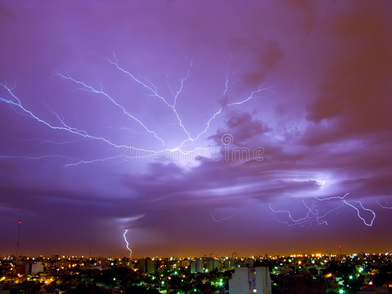 Lightning Storm. In Buenos Aires, Argentina stock photos