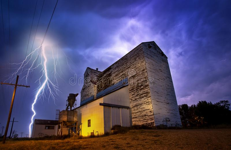 Lightning Storm Canada stock images