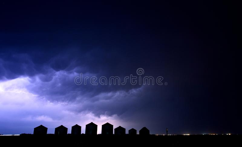 Lightning Storm Canada stock photography