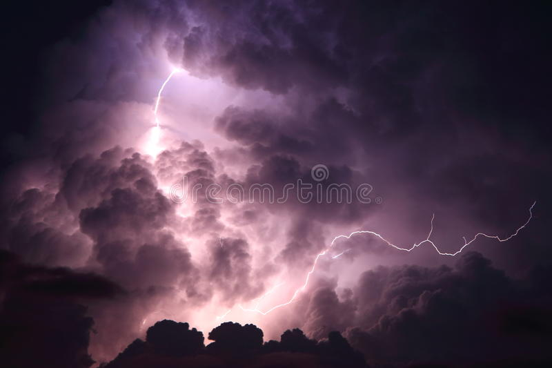 Download Lightning Storm Cloud Stock Image Of Strikes Energy