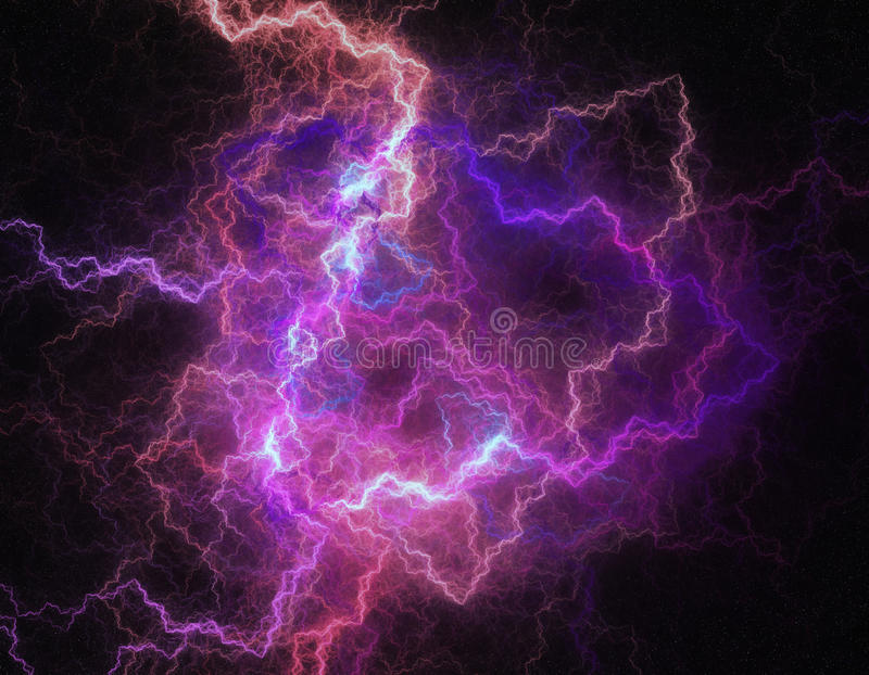 Lightning storm like space abstract background. royalty free illustration