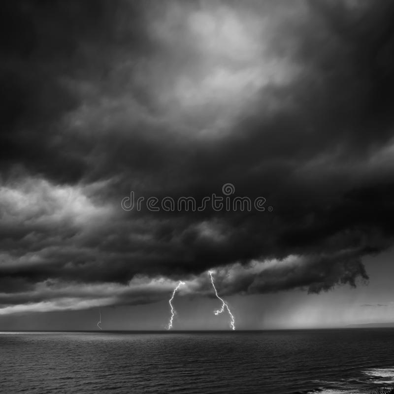 Download Lightning Storm Over Sea stock photo. Image of flash - 32716988