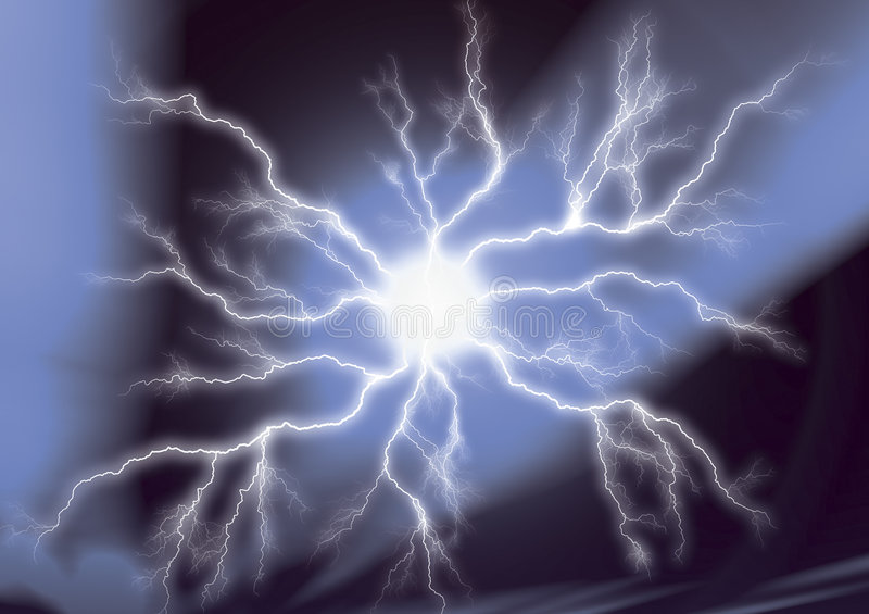 Download Lightning Strike stock illustration. Illustration of rumble - 1387974