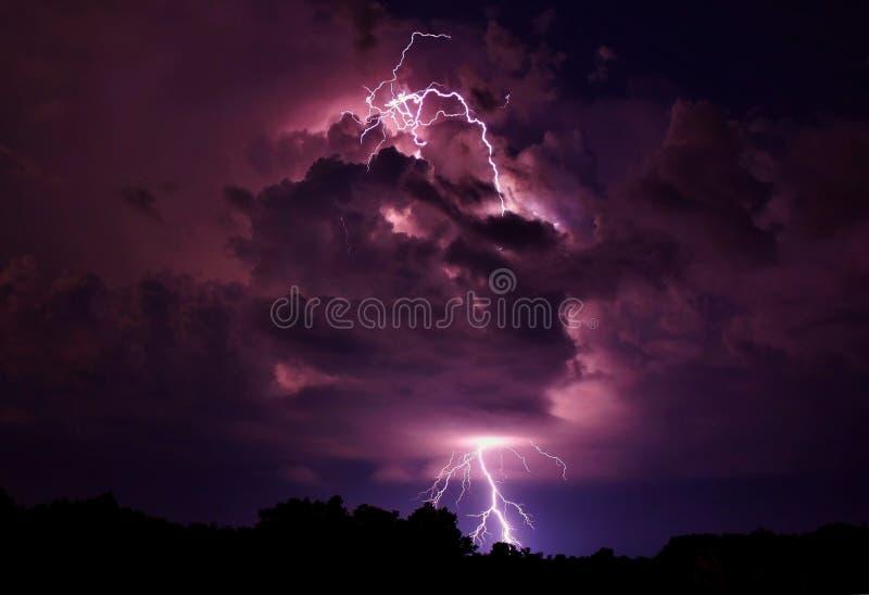 Lightning strike. royalty free stock image
