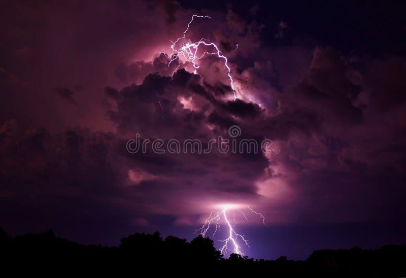 Lightning strike royalty free stock photo