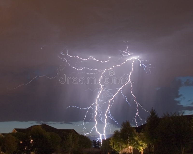 Lightning strike 2 royalty free stock photo