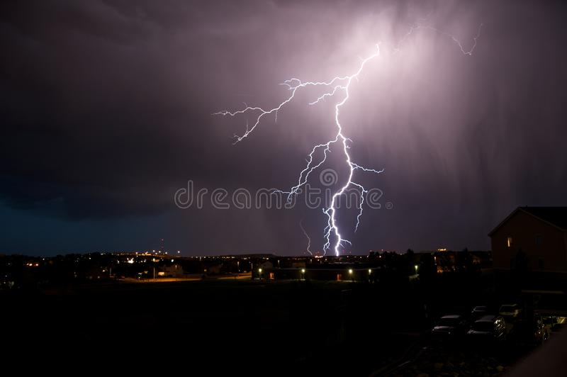 Download Lightning Strike stock image. Image of colorado, rotation - 25959453