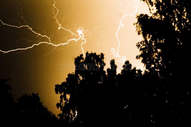 Download Lightning strike stock photo. Image of nighttime, brown - 2834838
