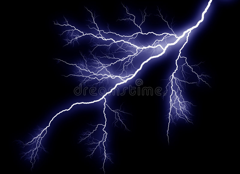 Lightning Strike royalty free illustration