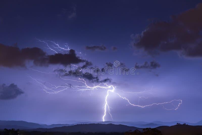 Lightning Strike Ground Anvil Crawlers stock photography