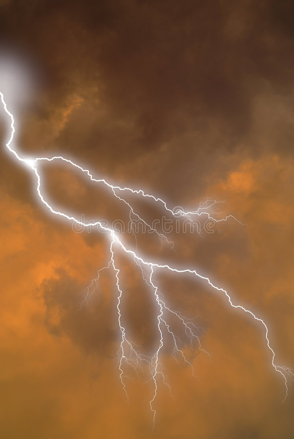 Free Lightning Strike In Clouds Stock Photos - 2093473