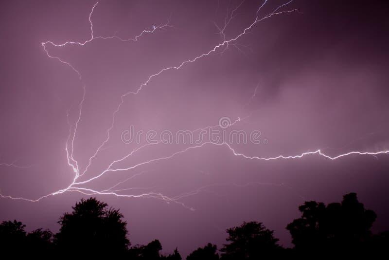Lightning strike in Missouri royalty free stock photos