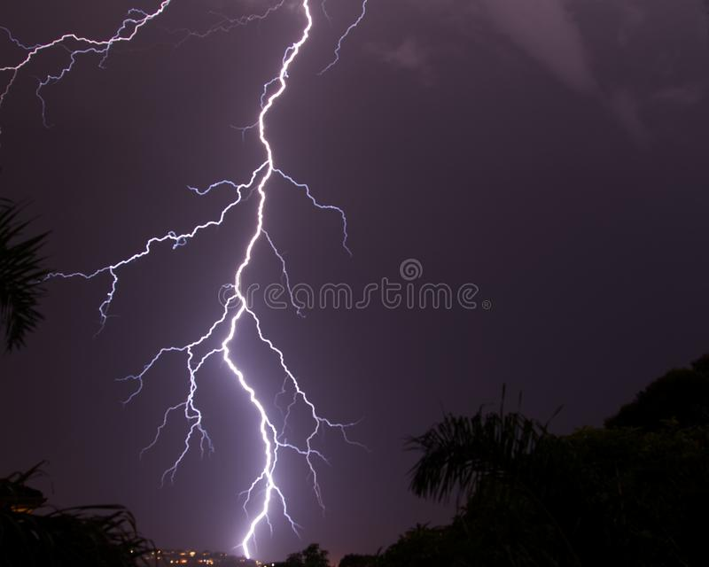 Download Lightning Strike In The Night's Sky Stock Photo - Image: 26974022