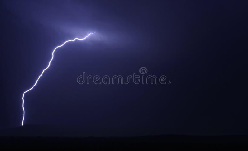 Lightning Strike at Night royalty free stock photography