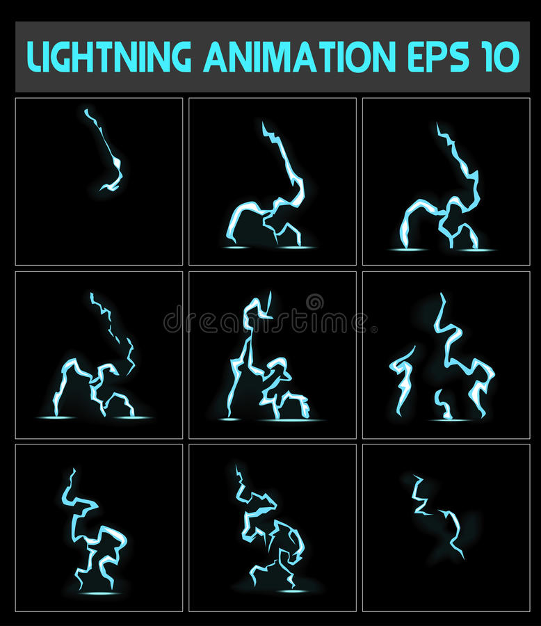 A lightning strike to the ground or something else vector illustration