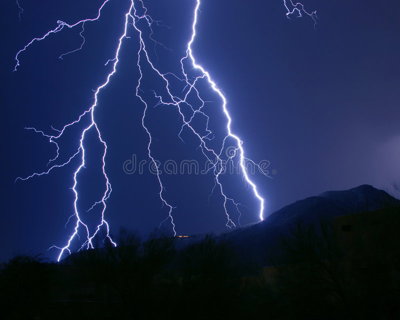 Lightning Strikes royalty free stock image