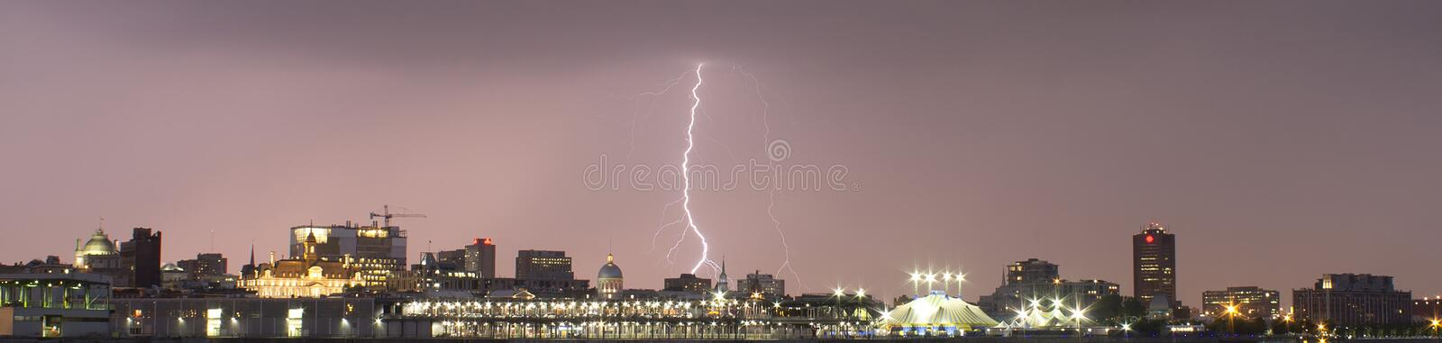 Lightning strikes royalty free stock photos