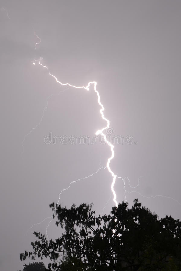 The lightning royalty free stock images