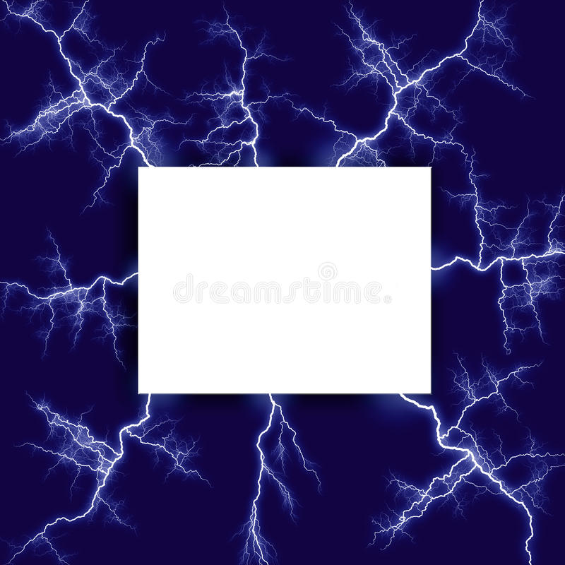 Lightning surrounded note stock images