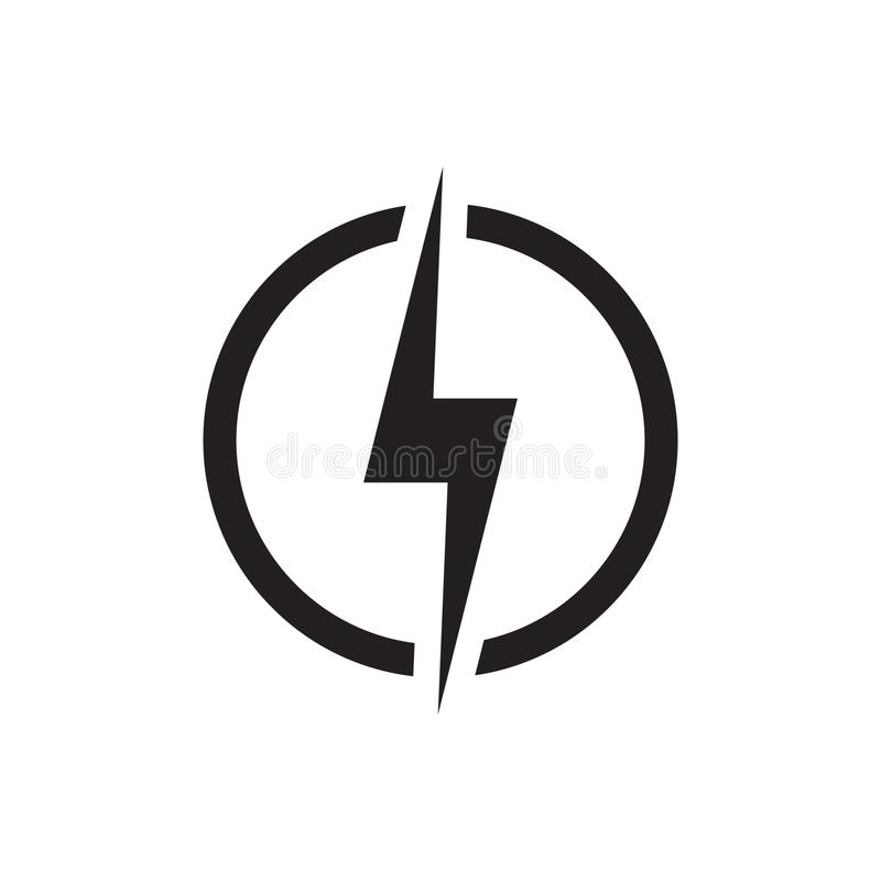 Lightning symbol electicity icon flash sign. Vector illustration isolated royalty free illustration