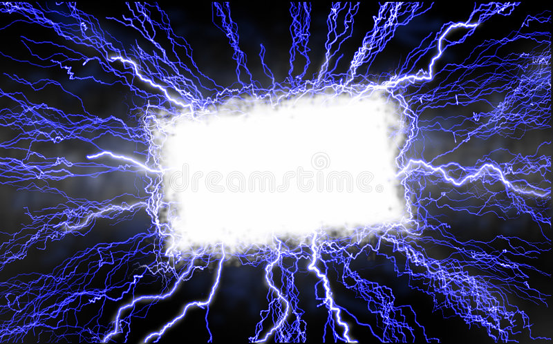 Download Lightning Text Box stock illustration. Image of energy - 2527345