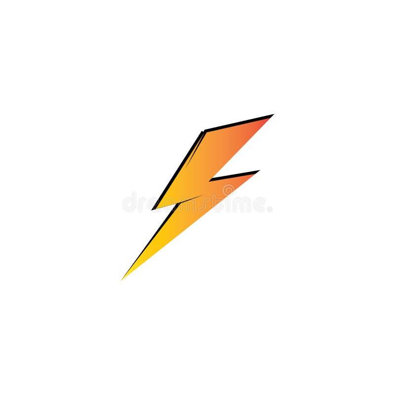 Lightning thunder bolt electricity logo design template royalty free stock photo