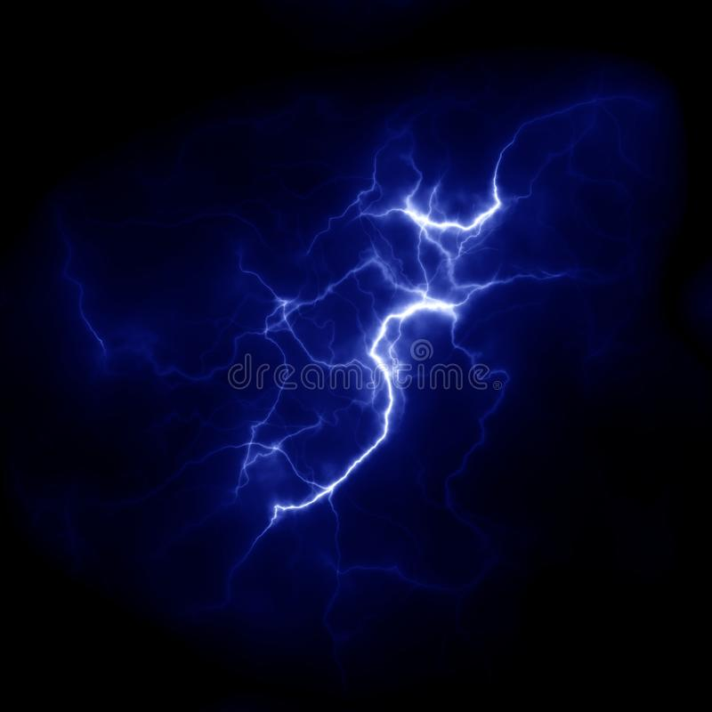 Lightning Thunderbolt template for design. Electric discharge in the sky royalty free stock images