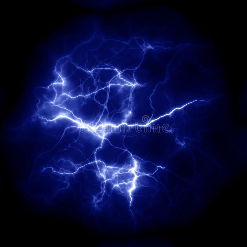 Lightning Thunderbolt template for design. Electric discharge in the sky stock images