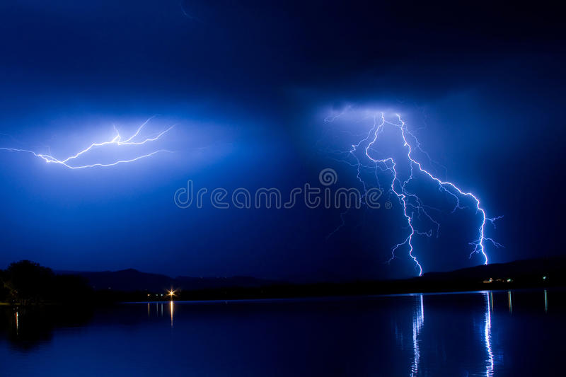Download Lightning ThunderStorm Into The Night Stock Image - Image of night, storms: 26148853
